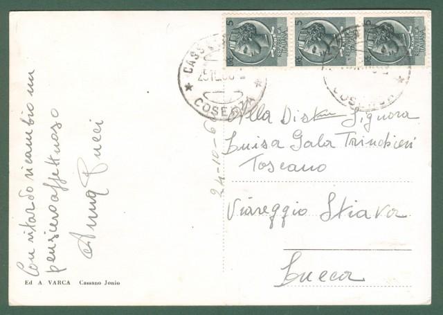 Calabria. CASSANO IONIO, Cosenza. Cartolina d'epoca viaggiata nel 1966