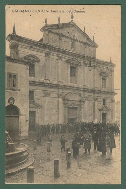 Calabria. CASSANO IONIO, Cosenza. Facciata del Duomo. Cartolina d'epoca viaggiata nel 1912