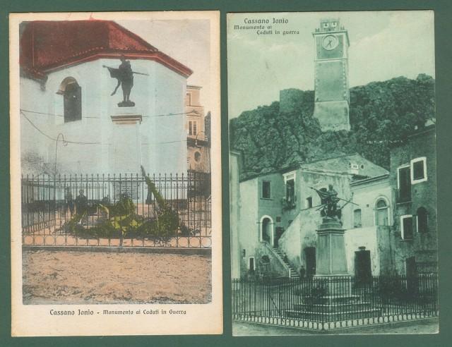Calabria. CASSANO IONIO, Cosenza. Due cartoline d'epoca viaggiate nel 1926 e 1929