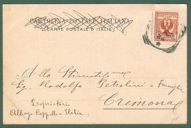 Lombardia. MELGRATE, Lago di Como. Cartolina d'epoca viaggiata nel 1903