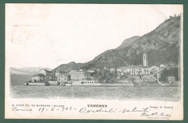 Lombardia. VARENNA, Lago di Como. Cartolina d'epoca viaggiata nel 1903