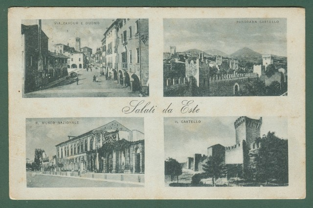 Veneto. ESTE, Padova. Saluti da Este. Cartolina d'epoca viaggiata nel 1917.