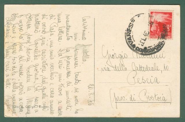 Lombardia. VARESE. Piazza Monte Grappa. Cartolina d'epoca viaggiata nel 1946.