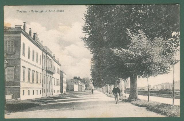 Emilia Romagna. MODENA. Passeggiata delle Mura. Cartolina d'epoca viaggiata inizio '900.