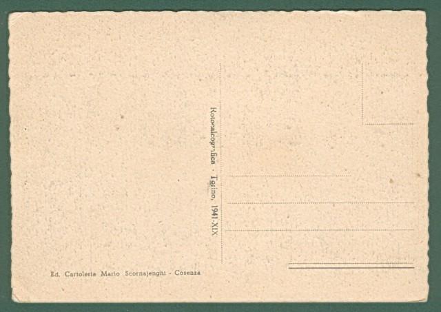 Calabria. COSENZA. Un ricordo da Cosenza. Anno 1941, cartolina d'epoca non viaggiata, formato grande