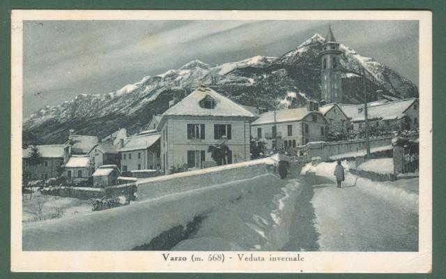 Piemonte. VARZO, Verbania. Veduta invernale.