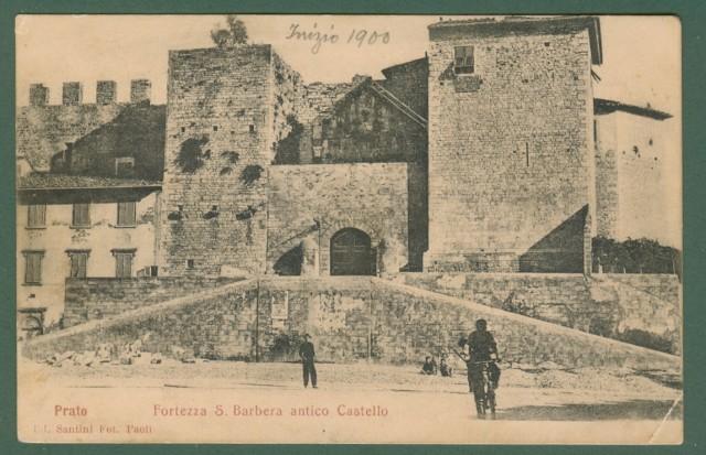 Toscana. PRATO. Fortezza S. Barbara. Cartolina d'epoca viaggiata nel 1910