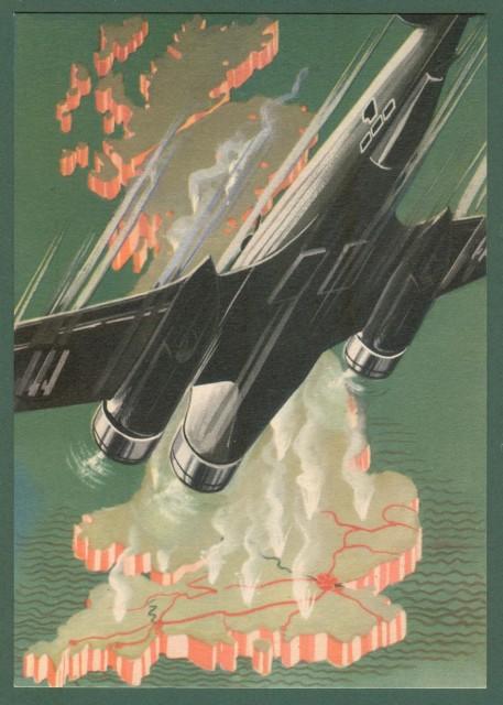 AVIAZIONE SECONDA GUERRA. Arma aeronautica. Ediz. Boeri. Cartolina d'epoca circa 1940