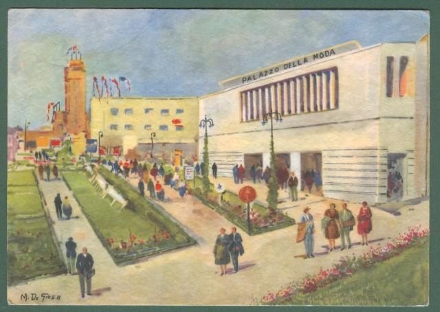 BARI FIERA DEL LEVANTE. Cartolina d'epoca viaggiata entro busta, nel 1956.