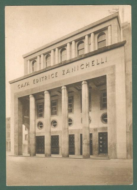 ZANICHELLI EDITORE BOLOGNA. Cartolina d'epoca viaggiata nel 1938.
