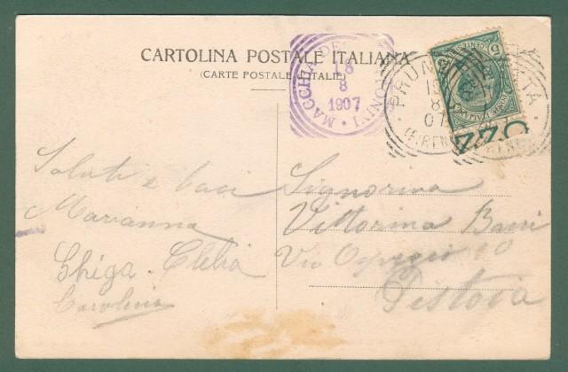 Toscana. MACCHIA ANTONINI, Montagna Pistoiese. Cartolina d'epoca viaggiata nel 1907.