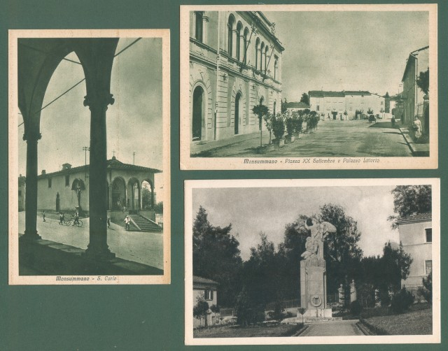 Toscana. MONSUMMANO, Pistoia. Tre cartoline d'epoca
