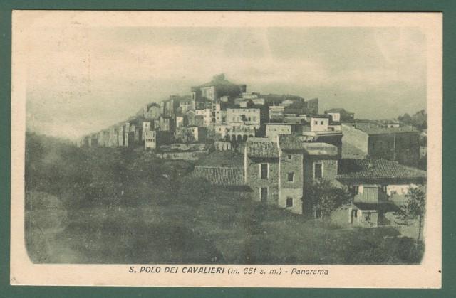 Lazio. S. POLO DEI CAVALIERI, Roma. Panorama. Cartolina d'epoca viaggiata nel 1923