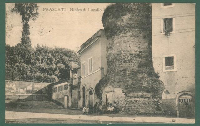 Lazio. FRASCATI, Roma. Ninfeo di Lucullo. Cartolina d'epoca viaggiata nel 1921.