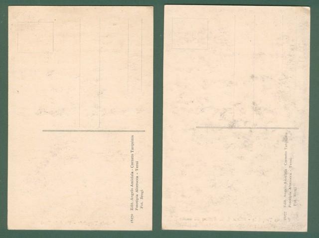 Lazio. CORNETO TARQUINIA, Viterbo. Due cartoline d'epoca non viaggiate, circa 1920.