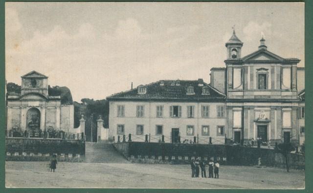Lazio. MONTE ROMANO, Viterbo. Chiesa parrocchiale. Cartolina d'epoca viaggiata nel 1933.