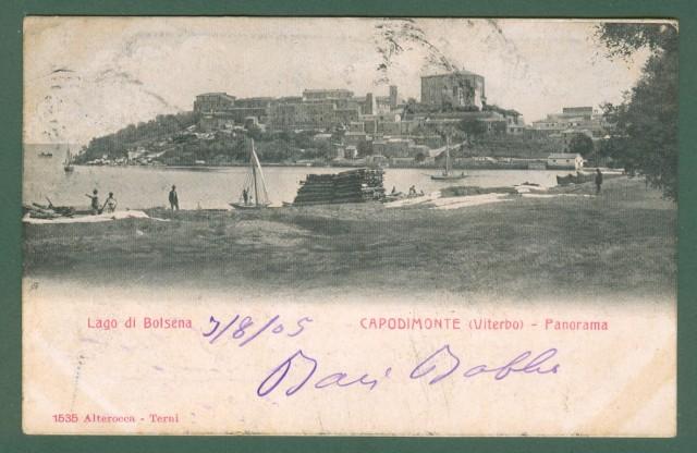 Lazio. CAPODIMONTE, Viterbo, Lago di Bolsena. Cartolina d'epoca viaggiata nel 1905