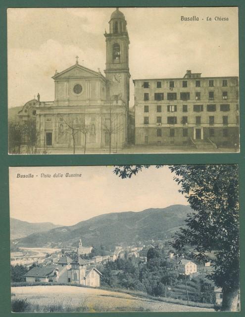 Liguria. BUSALLA, Genova. Due cartoline d'epoca (una viaggiata nel 1928).