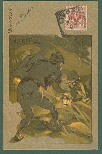 HOHENSTEIN. IRIS di Mascagni. Cartolina d'epoca viaggiata nel 1905.