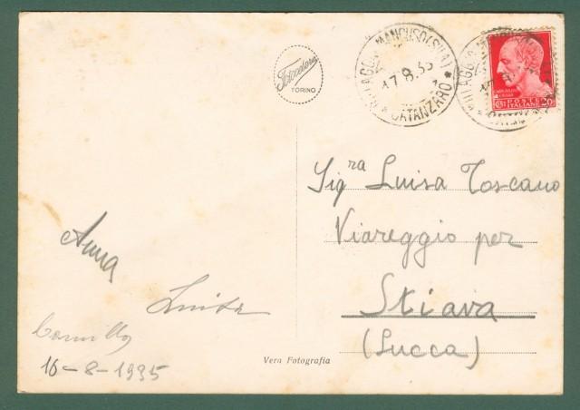 Calabria. VILLAGGIO MANCUSO, Sila, Catanzaro. Formato 10x15. Cartolina d'epoca viaggiata nel 1935.
