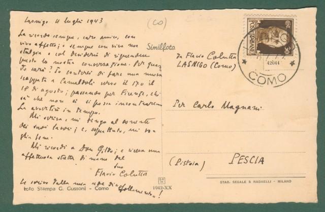 Lombardia. ASSO, Como. Panorama. Cartolina d'epoca viaggiata nel 1943.