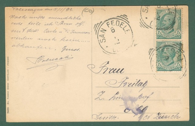 Lombardia. BLESSAGO, Como. Cartolina d'epoca viaggiata nel 1912.