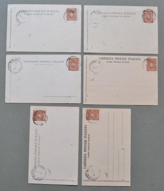 Lazio. TIVOLI, Roma. Sei cartoline d'epoca tutte viaggiate il 16.08.1900 e dello stesso mittente.