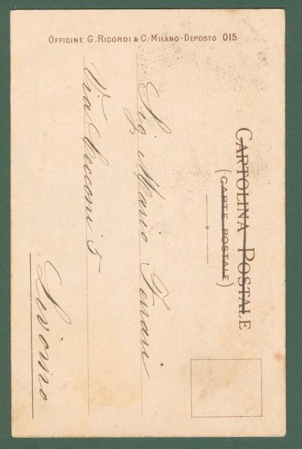 MATALONI GIOVANNI. IRIS di Mascagni. Cartolina d'epoca disegnata nel 1898, viaggiata nel 1902.