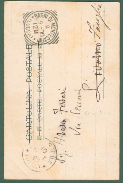 CHIATTONE GABRIELE. Fonte Olivo a Montecatini Terme (Pistoia). Cartolina d'epoca viaggiata l'8.9.1900.