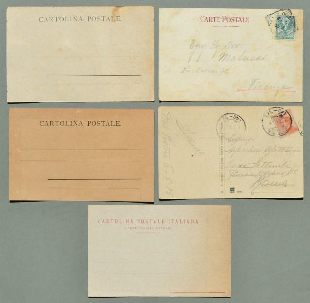 Campania. VESUVIO, NAPOLI. Insieme di cinque cartoline d'epoca di cui due viaggiate 1906 - 1925.