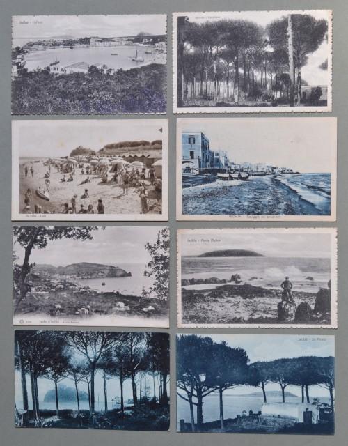 Campania. ISCHIA, Napoli. Otto cartoline d'epoca viaggiate tra il 1910 - 1938.