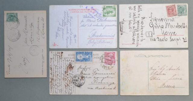 Friuli Venezia - Giulia. TRIESTE. Cinque cartoline d'epoca viaggiate tra il 1909 - 1922.