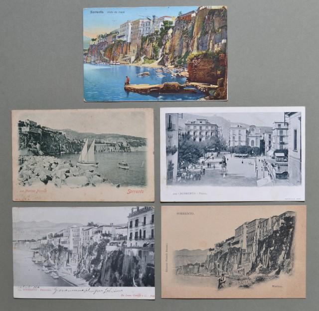 Campania. SORRENTO, Napoli. Cinque cartoline d'epoca di cui tre viaggiate tra il 1900 - 1923.