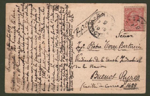 SAVONA, La Siderurgica. Cartolina d'epoca viaggiata nel 1918.