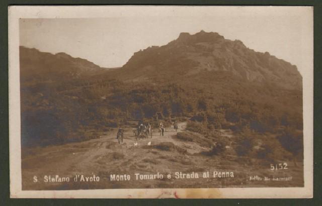 S. STEFANO D'AVETO, Genova. Monte Tomarlo e Strada al Penna. Cartolina d'epoca viaggiata nel 1917