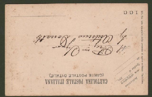 LOCO DI ROVEGNO, Genova. Cartolina d'epoca viaggiata entro busta nel 1904.
