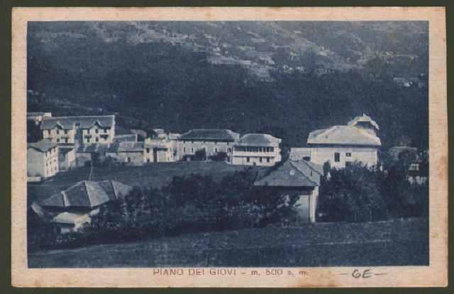 PIANO DEI GIOVI, Genova. Panorama. Cartolina d'epoca non viaggiata, circa 1935.