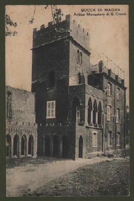 BOCCA DI MAGRA, La Spezia. Monastero S. Croce. Cartolina d'epoca viaggiata nel 1915.