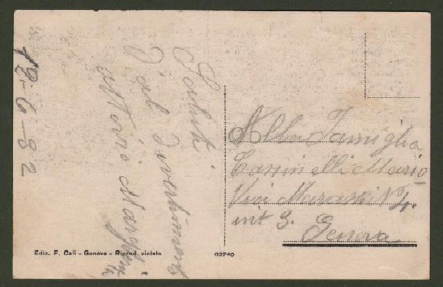PIANI DI CRETO, Genova. Le Palazzine. Cartolina d'epoca viaggiata entro busta nel 1932.
