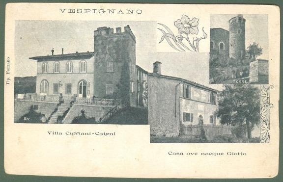 Toscana. VESPIGNANO, Vicchio, Mugello. Cartolina d'epoca non viaggiata, circa 1910.