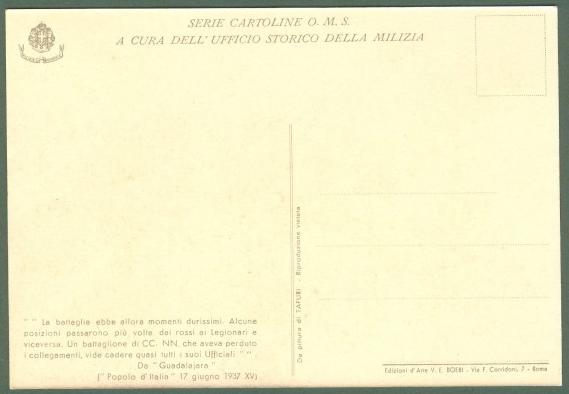 TAFURI CLEMENTE. Serie cartoline O.M.S. a cura dell'Ufficio Storico della Milizia.