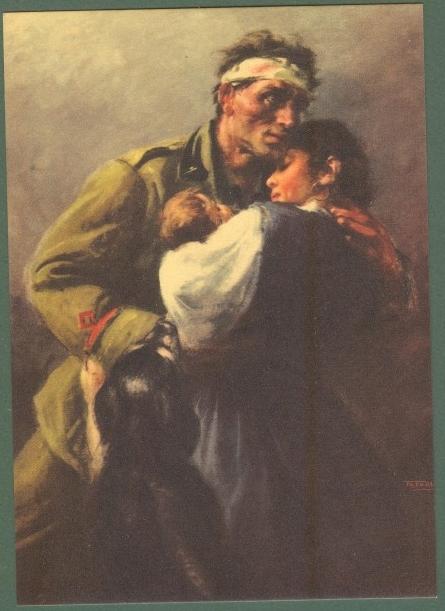 TAFURI CLEMENTE. Cartolina postale a cura dell'Ufficio Storico della Milizia.