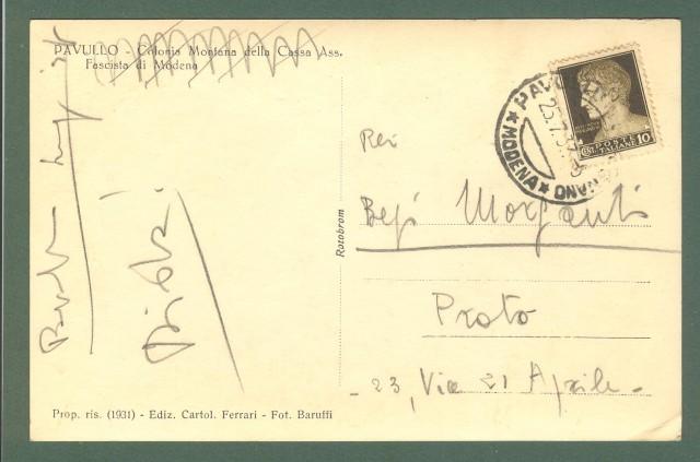 Emilia Romagna. PAVULLO, Modena. Colonia Montana. Cartolina d'epoca viaggiata nel 1933