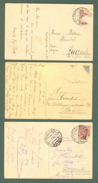 Piemonte. CREVOLA D'OSSOLA, Novara. Tre cartoline d'epoca viaggiate nel 1925 - 1927.