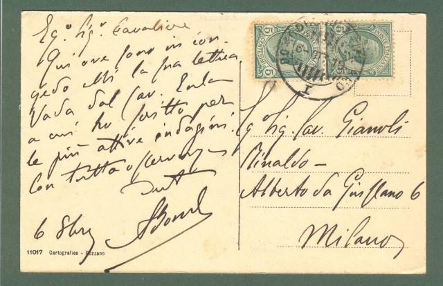 Piemonte. INVORIO, Novara. Panorama. Cartolina d'epoca viaggiata nel 1910.