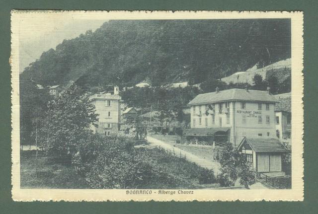 Piemonte. BOGNANCO, Novara. Albergo Chavez. Cartolina d'epoca viaggiata nel 1913.