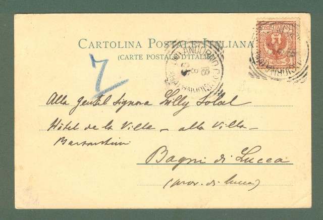 Piemonte. ANDORNO, SAGLIANO e TAVIGLIANO, Novara. Cartolina d'epoca viaggiata nel 1905