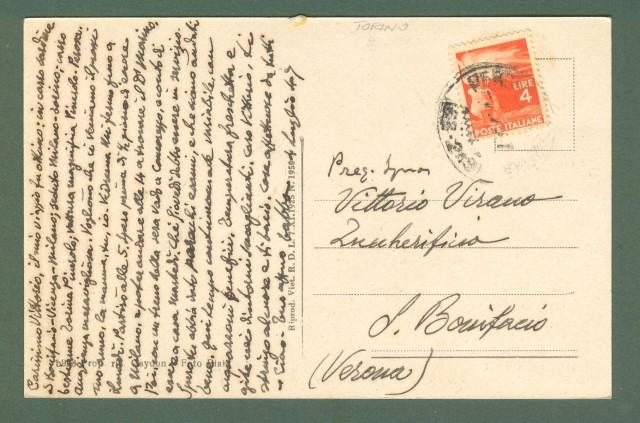 Piemonte. POMARETTO, Torino. Frazioni Masselli e Lausa. Cartolina d'epoca viaggiata nel 1947