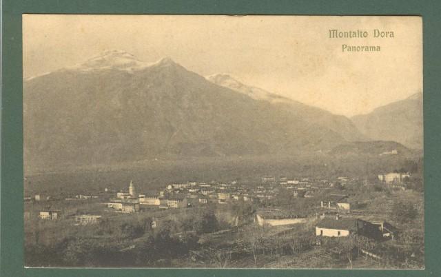 Piemonte. MONTALTO DORA, Torino. Panorama. Cartolina d'epoca non viaggiata, circa 1920.