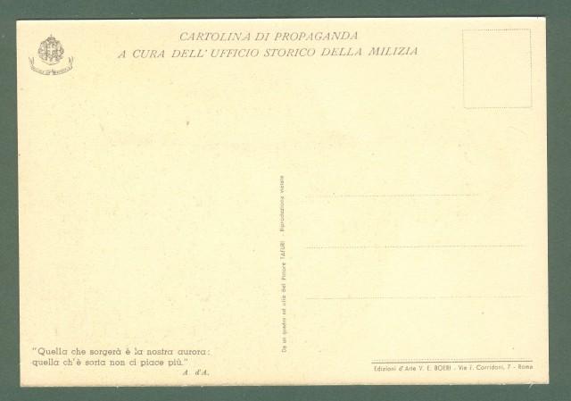 TAFURI CLEMENTE. Cartolina d'epoca di propaganda a cura dell'Ufficio Storico della Milizia, circa 1935.